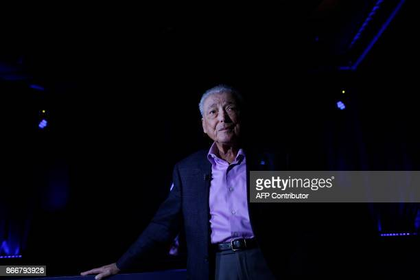 Holocaust survivor Aaron Elster speaks to reporters at the Take A Stand Center at the Illinois Holocaust Museum Education Center on October 26 2017...