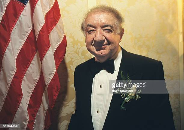 Holocaust survivor, Abraham Zuckerman at the Elie Weisel awards dinner in New York.
