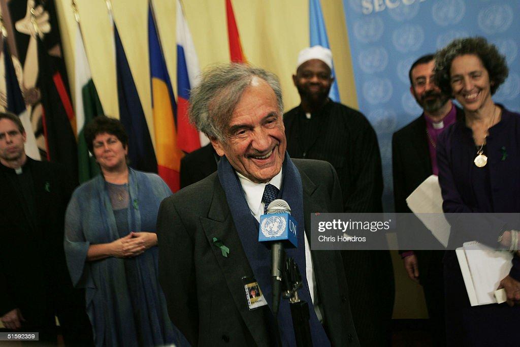 Elie Wiesel Visits The U.N.