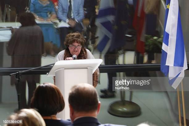 Holocaust Survivor Matylda Antonina Wyszynska vel Ada Fuchs saved by the Stanislaw Podhaniuk is seen in Gdansk Poland on 30 August 2018 The Embassy...