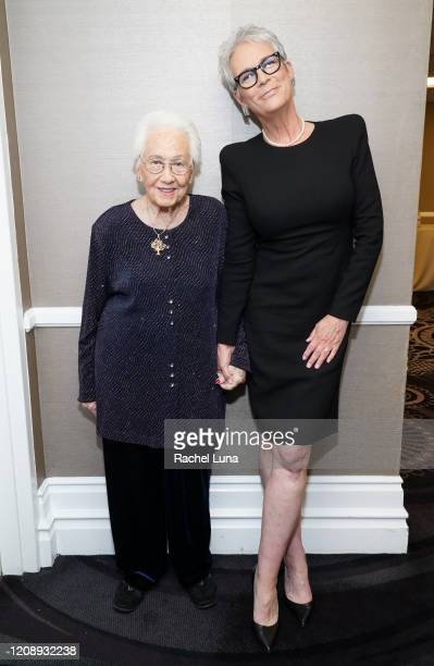 Holocaust survivor Renee Firestone and Jamie Lee Curtis attend United States Holocaust Memorial Museum's '2020 Los Angeles Dinner What You Do...