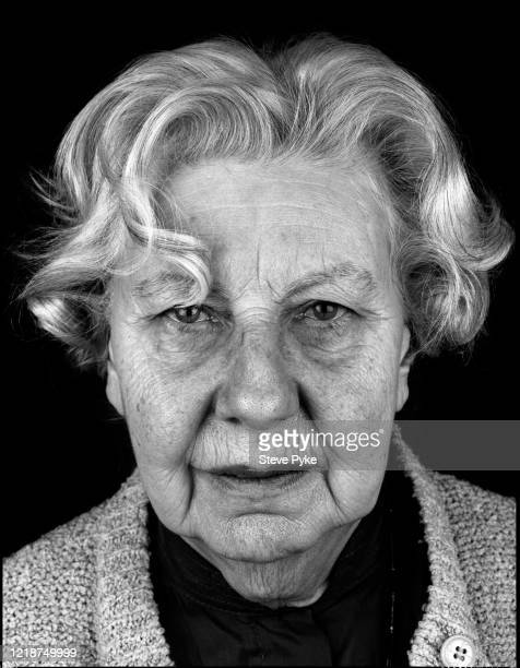 Holocaust survivor, Trude Levi, London, 1995. Levi was a prisoner at the Bergen-Belsen Nazi concentration camp in Germany during World War II.