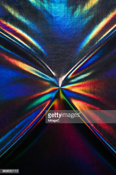 hologram foil coated textile - hologram stock pictures, royalty-free photos & images