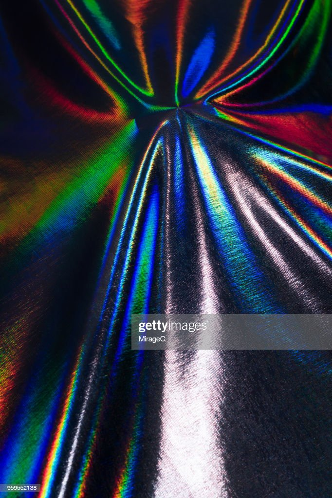Hologram Foil Coated Textile : Stock-Foto