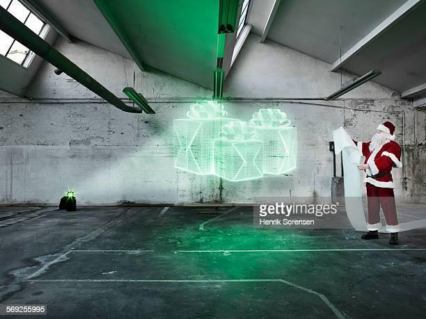 Hologram in warehouse