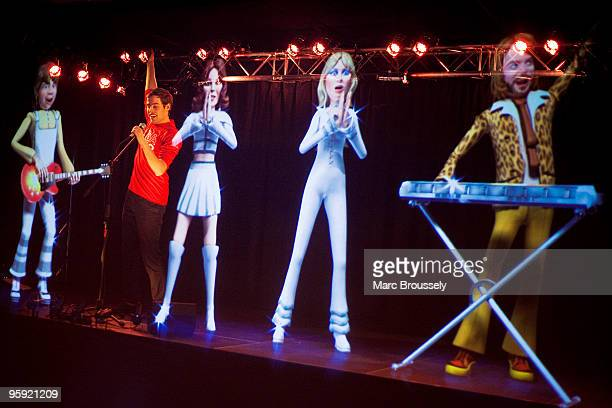 Hologram interactive stage at ABBAWORLD an interactive ABBA experience that will open at Earls Court on Wednesday January 27 at Earls Court on...