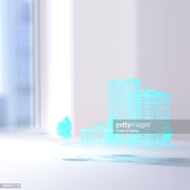 hologram of building