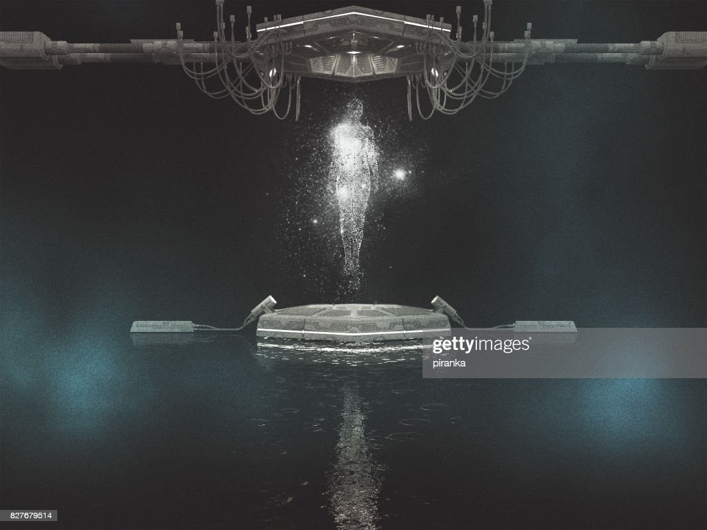 Hologram projection : Stock Photo