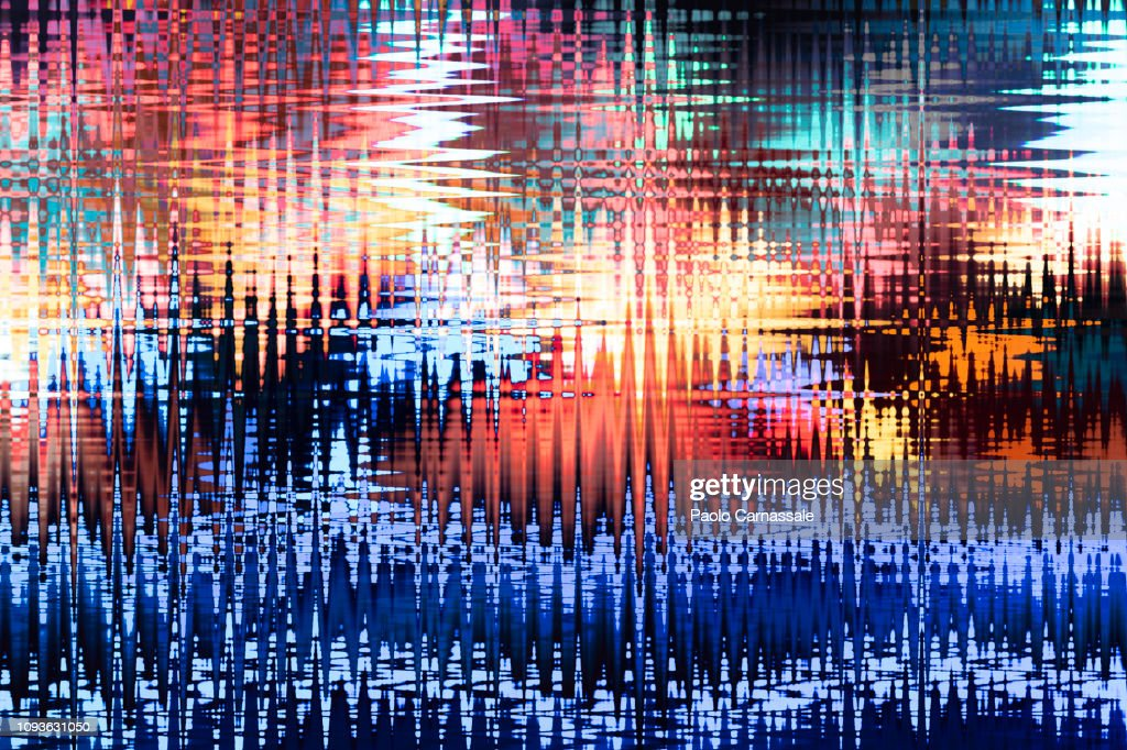 Holographic abstract wave background : Stock Photo