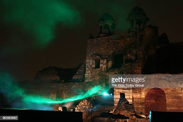 Holographic laser show with Nikhel Mahajan's ambient music at Purana Qila during the launch of Music Today's new label DadA Music with Mahajan's new...