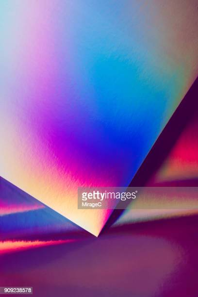 holographic paper and spectrum pattern - hologram stock pictures, royalty-free photos & images