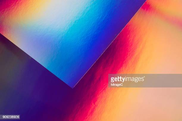 holographic paper and spectrum pattern - toned image stock pictures, royalty-free photos & images