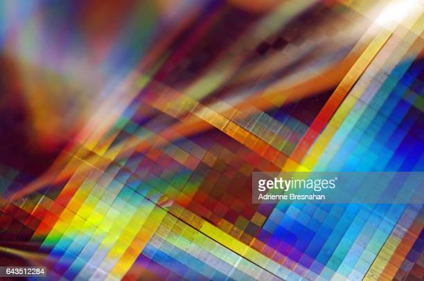 Holographic Paper Prism Effect Close-Up