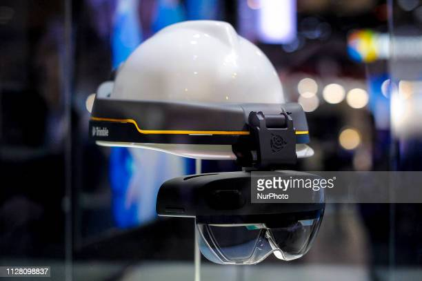 HoloLens 2 a AR headset designed by Microsoft exhibited during the Mobile World Congress on February 28 2019 in Barcelona Spain