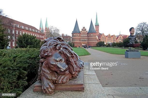 Holstentor, city gate of Lübeck, Germany