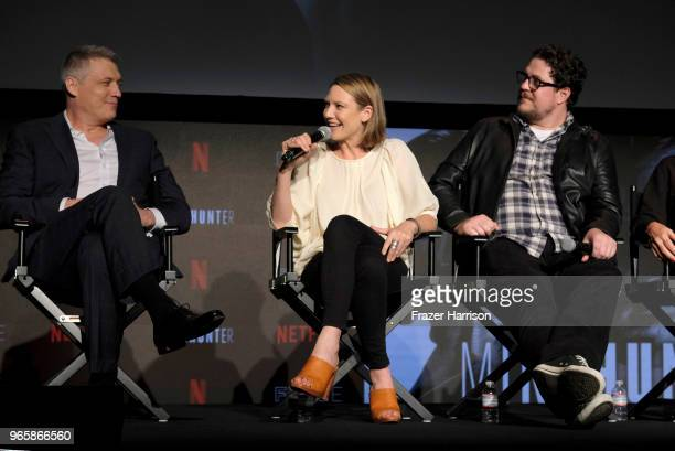 Holt McCallany Anna Torv Cameron Britton attends Netflix's 'Mindhunter' FYC Event at Netflix FYSEE At Raleigh Studios on June 1 2018 in Los Angeles...