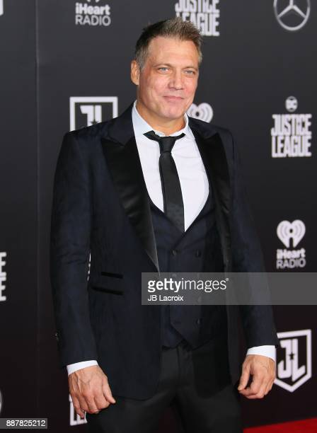 Holt McCallany attends the premiere of Warner Bros Pictures' 'Justice League' on November 13 2017 in Los Angeles California