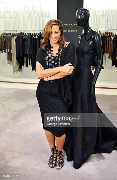 Holt Renfrew welcomes designer Donna Karan for the 25th Anniversary Celebration of Donna Karan New York at Holt Renfrew Bloor Street on August 24,...