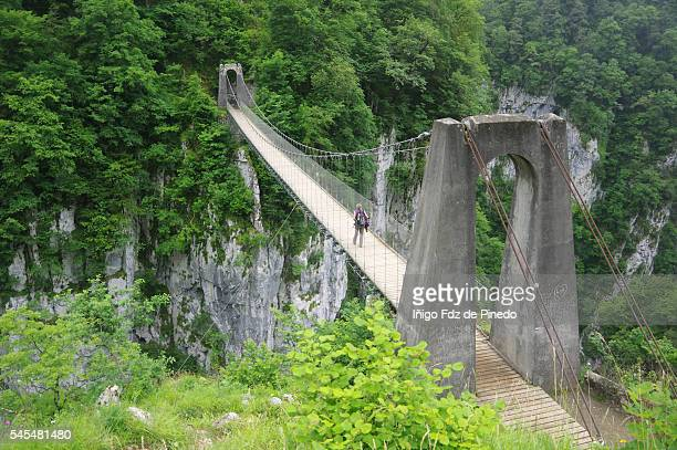 Holtzarte pending bridge- Larrau - France