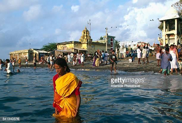 Holy Bathing near the Ramanathaswamy Temple