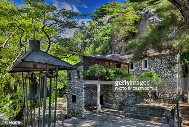 """holy chapel of """"panagia"""" (virgin mary) - dimitrios tilis stock pictures, royalty-free photos & images"""