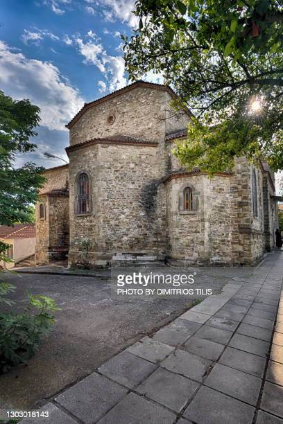 holy church of agios stefanos - dimitrios tilis stock pictures, royalty-free photos & images