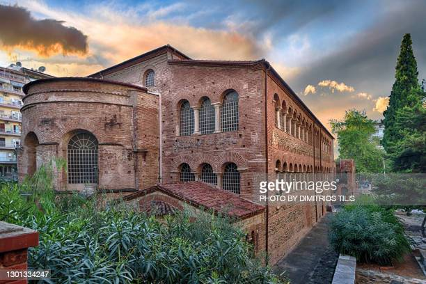 holy church virgin mary achiropiitos (not made by human hand)unesco world heritage 2 - dimitrios tilis stock pictures, royalty-free photos & images