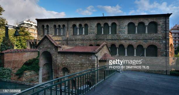 holy church virgin mary achiropiitos (not made by human hand)unesco world heritage - dimitrios tilis stock pictures, royalty-free photos & images