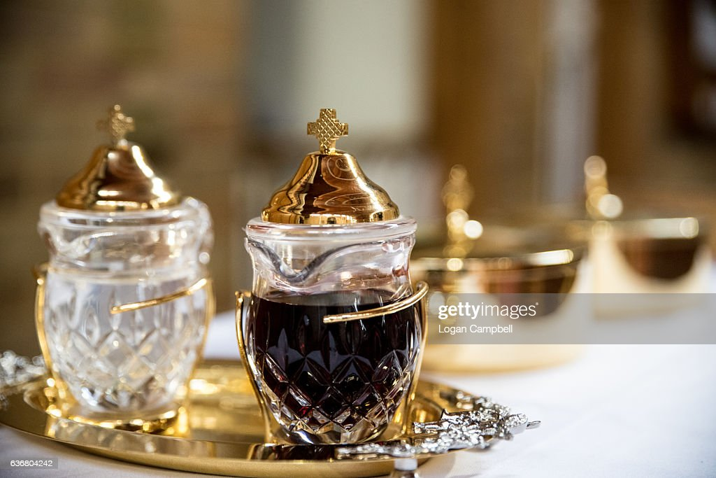 Holy Communion Bread And Wine Stock Photo Getty Images