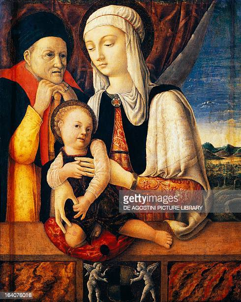 Holy Family by Antonio Vivarini oil on canvas 65x52 cm Strasbourg Musée Des BeauxArts