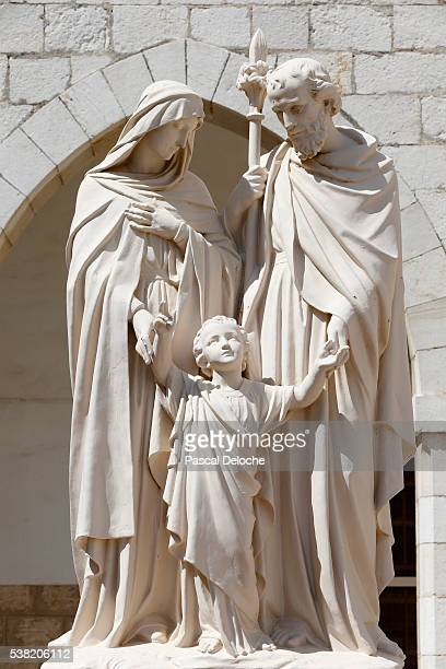 holy family. sisters of nazareth convent. - holy family jesus mary and joseph stock photos and pictures