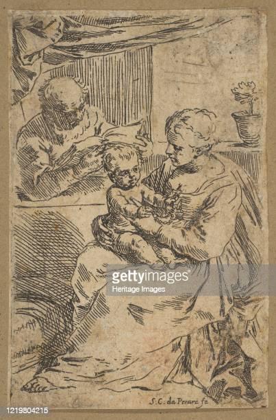 Holy Family with a rosary, circa 1640-1642. Artist Simone Cantarini.