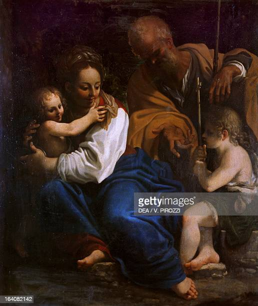 Holy Family with the infant St John the Baptist by Bartolomeo Schedoni oil on canvas 75x64 cm Rome Galleria Nazionale D'Arte Antica Di Palazzo Corsini