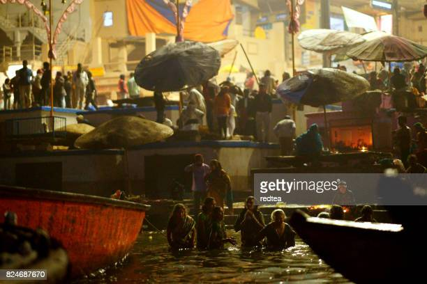 holy ghats at haridwar, india - ghat stock pictures, royalty-free photos & images