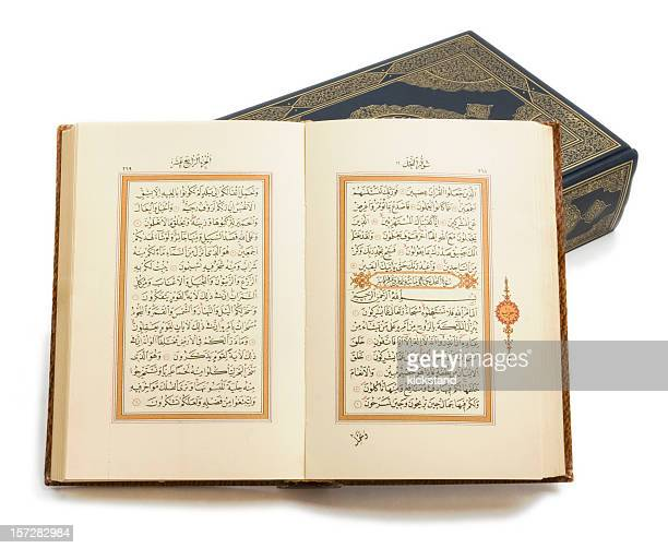 Holy Korans with clipping path