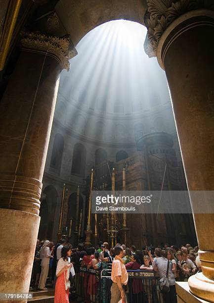 Holy light in the church of holy sepulcher in Jerusalem