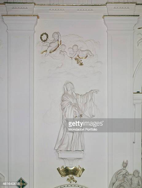Holy Limbania by Giacomo Serpotta 1726 1728 18th Century stucco Italy Sicily Palermo Church of Saint Augustine Whole artwork view Portrait of Holy...