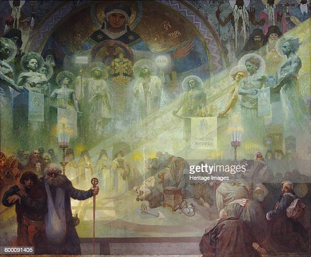 Holy Mount Athos 1926 Found in the collection of City Gallery Prague Artist Mucha Alfons Marie