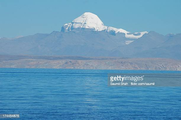 holy mt. kailash and manasarovar - mt kailash stock pictures, royalty-free photos & images