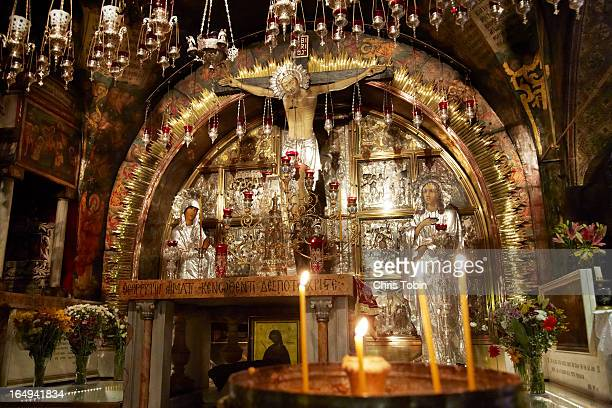 holy sepulcher in jerusalem - church of the holy sepulchre stock pictures, royalty-free photos & images