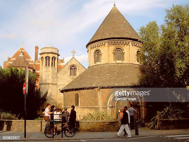 Holy Sepulcher round church at Bridge street in Cambridge An Anglican church built in the 12th century inspired by the rotunda in the church of the...