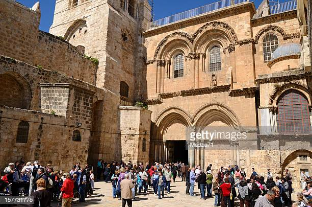 holy sepulchre church in jerusalem - church of the holy sepulchre stock pictures, royalty-free photos & images