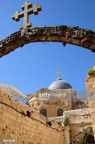 holy sepulchre in jerusalem - church of the holy sepulchre stock pictures, royalty-free photos & images