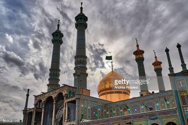 holy shrine of fatima masumeh, qom, iran - シーア派 ストックフォトと画像