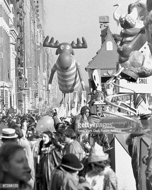 Holy smoke Natasha Bullwinkle Moose comes into view in wonderland called Central Park West at the Macy's Thanksgiving Day Parade