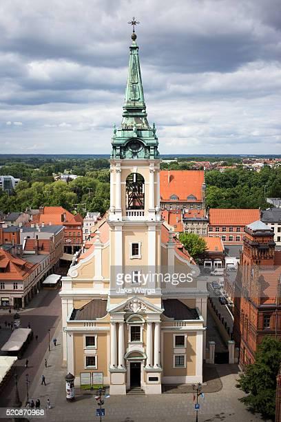 holy spirit church, tourn, poland - jake warga stock pictures, royalty-free photos & images