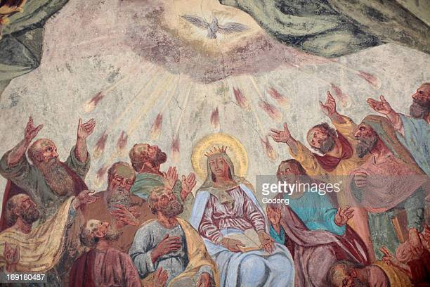 Holy spirit fresco in Loreto church