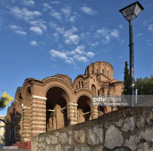 holy temple of prophet elias unesco world heritage 2 - dimitrios tilis stock pictures, royalty-free photos & images