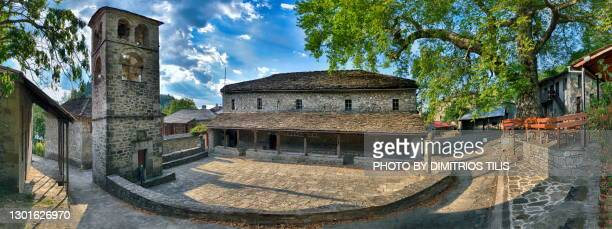holy temple of the brigadiers (archangels) at ganadio - dimitrios tilis stock pictures, royalty-free photos & images