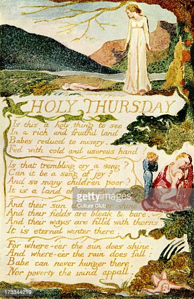 Holy Thursday by William Blake from 'Songs of Experience' 1794 English poet painter and printmaker 28 November 1757 — 12 August 1827